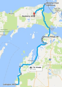 Lake Michigan Circle Tour Day Two Gregg Eldred - Lake michigan circle tour map